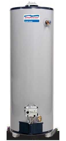 BFG61-40S40-3NOV - 40 Gallon 40000 BTU Flame Guard Standard Short Natural Gas Water Heater - 6 Year Warranty