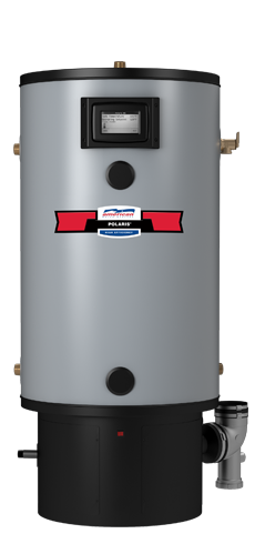 PG10-34-100-2NV - 34 Gallon 100,000 BTU Polaris High-Efficiency Natural Gas Water Heater - 10 Year Warranty