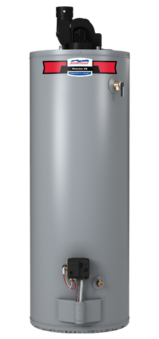 PDVG62-75T76-NV - ProLine® XE 75 Gallon 76,000 BTU PowerFlex® Power Direct Vent Natural Gas Water Heater - 6 Year Warranty