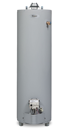 tall natural gas water heater whirlpool 40t6 34ng