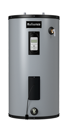 12 50 EGRS - 50 Gallon Medium Electric Water Heater w/Touch Screen and Leak Detection - 12 Year Warranty