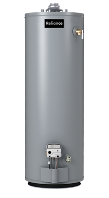 3 40 NOCT - 40 Gallon Tall Natural Gas Water Heater - 3 Year Warranty