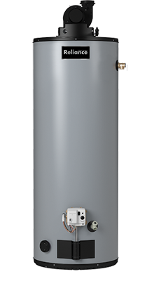 6 40 YBVIS - 40 Gallon Non-Condensing Power Vent Natural Gas Water Heater - 6 Year Warranty