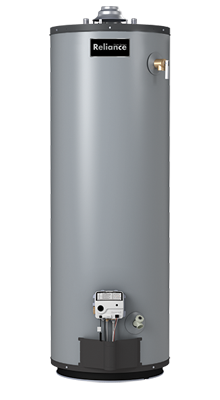 9 40 NKCT - 40 Gallon Tall Natural Gas Water Heater - 9 Year Warranty